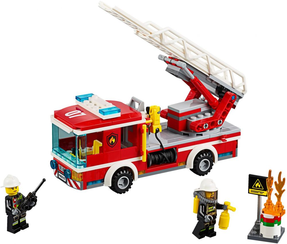 lego city 60107 le camion de pompiers avec chelle - Lego City Pompier