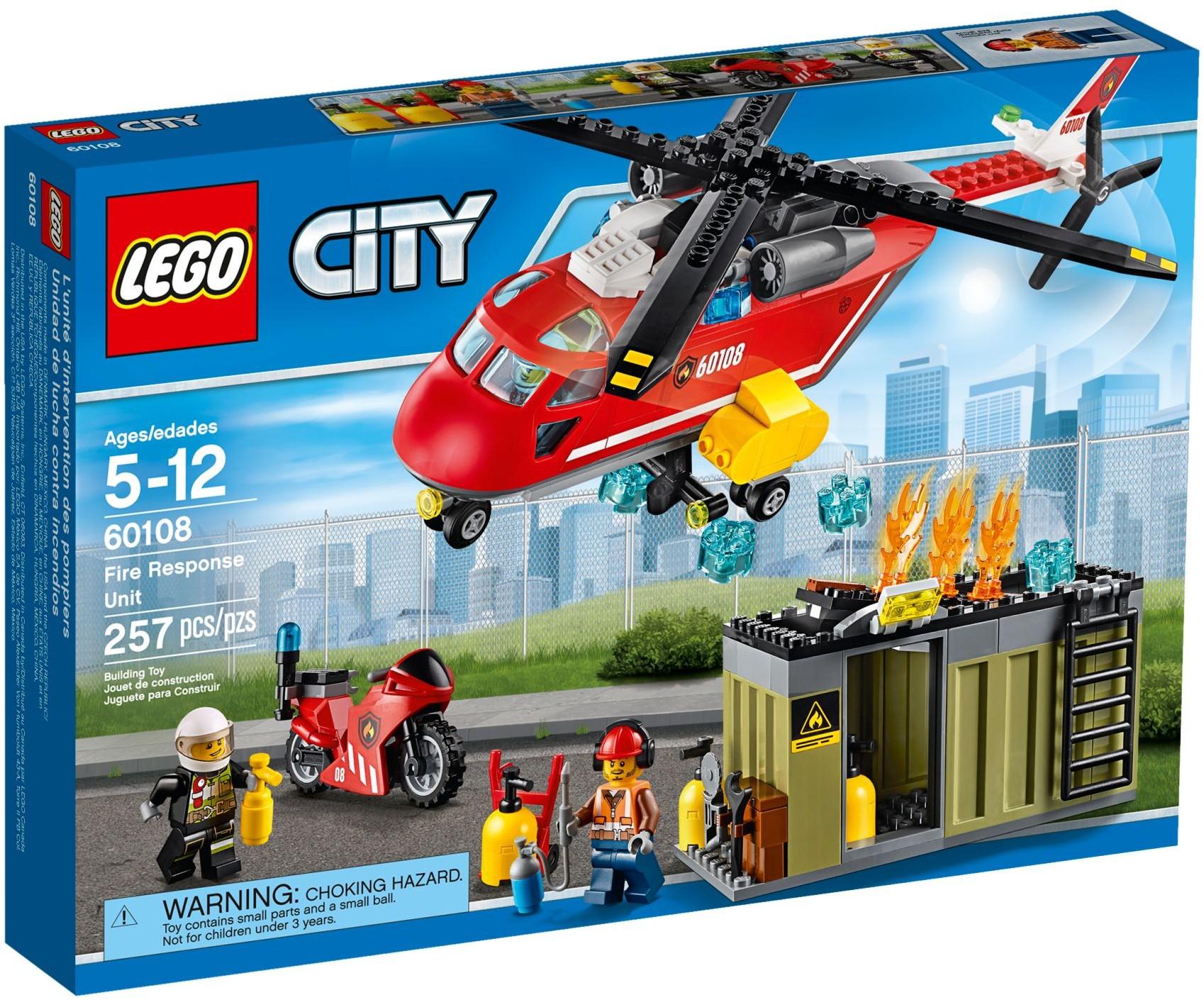 lego city 60108 pas cher l 39 unit de secours des pompiers. Black Bedroom Furniture Sets. Home Design Ideas