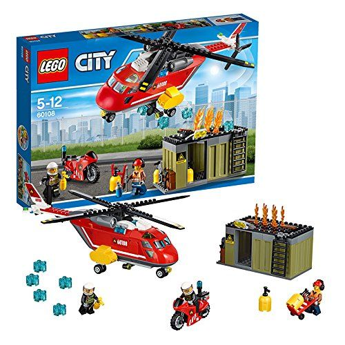 lego city 60108 pas cher l 39 unit de secours des pompiers. Black Bedroom Furniture Sets. Home Design Ideas