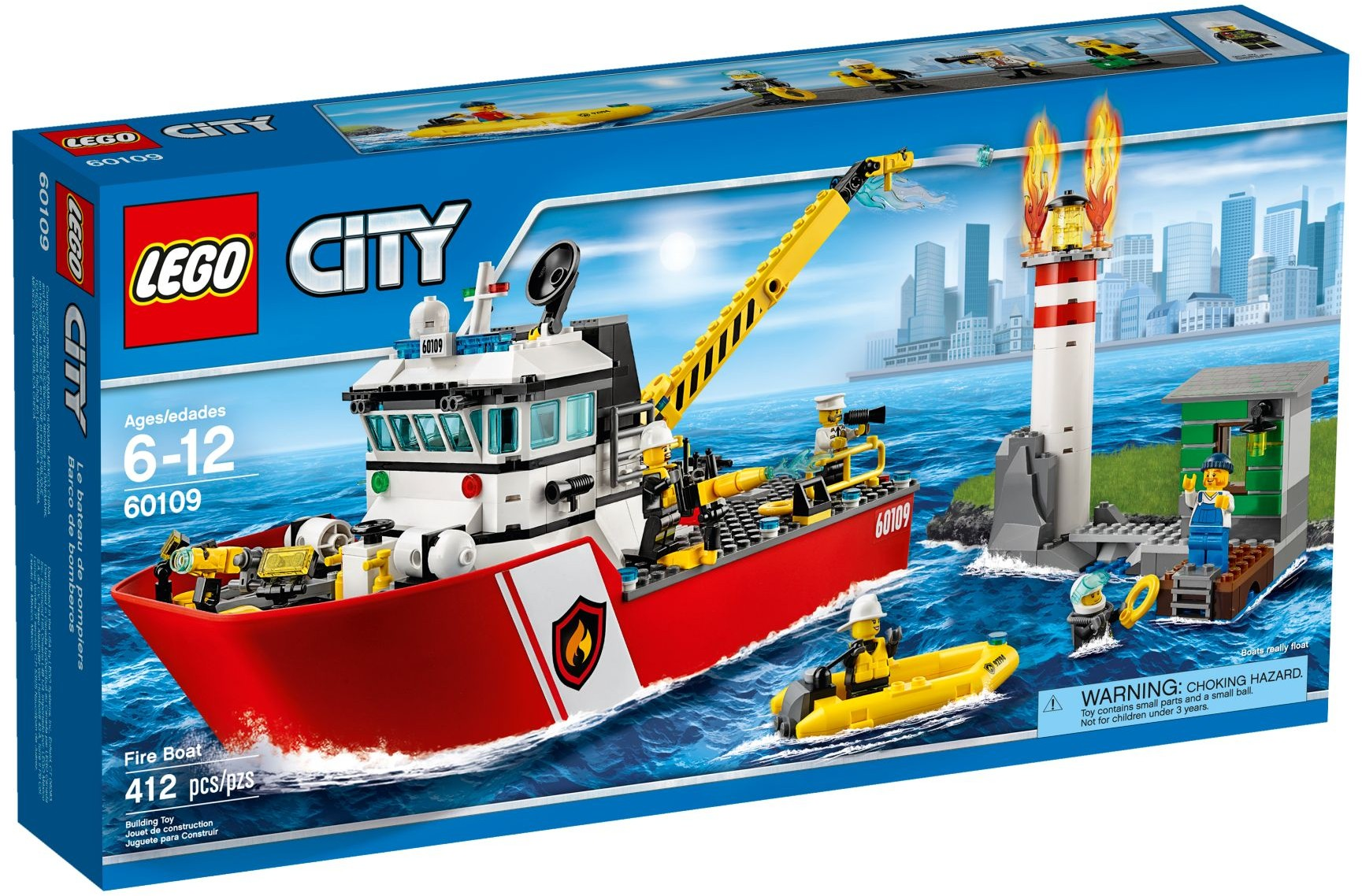 lego city 60109 pas cher le bateau de pompiers. Black Bedroom Furniture Sets. Home Design Ideas