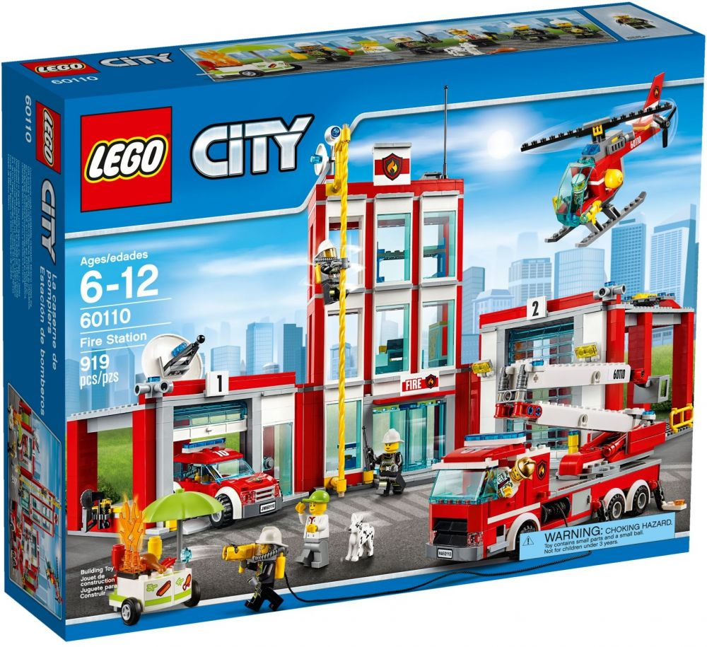 lego city 60110 pas cher la caserne des pompiers. Black Bedroom Furniture Sets. Home Design Ideas
