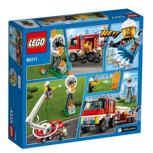 lego city 60111 pas cher le camion d 39 intervention des pompiers. Black Bedroom Furniture Sets. Home Design Ideas