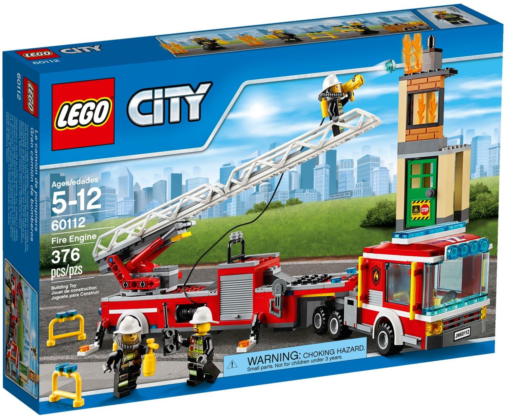 Lego city 60112 pas cher le grand camion de pompiers - Camion de police lego city ...