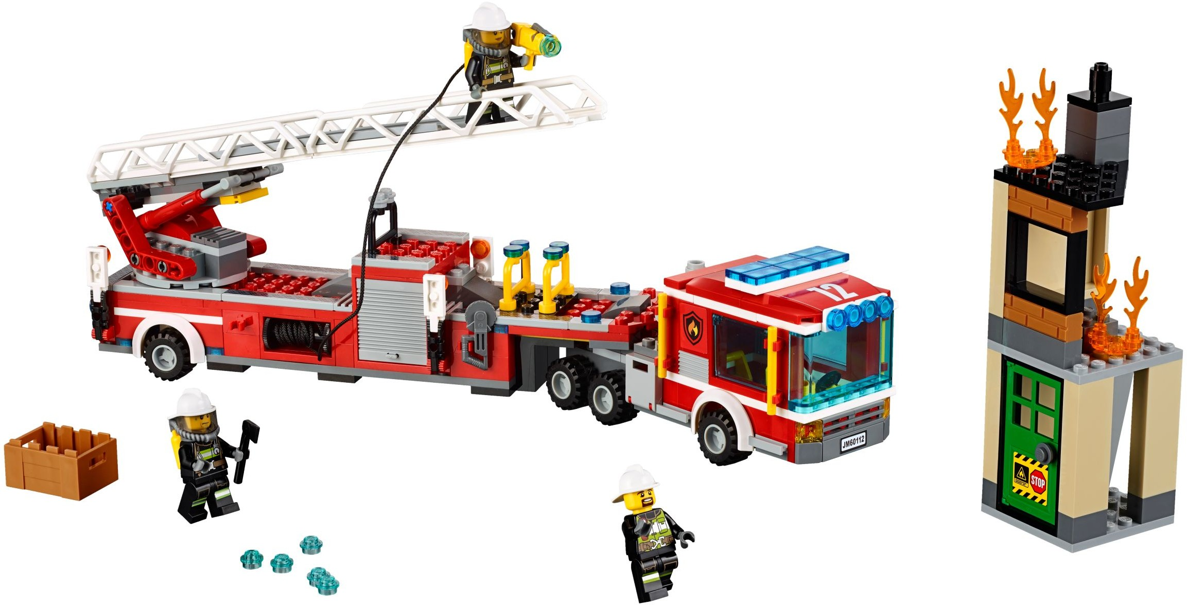 lego city 60112 pas cher le grand camion de pompiers. Black Bedroom Furniture Sets. Home Design Ideas
