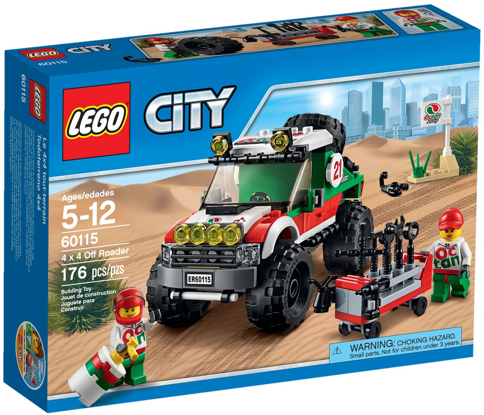 lego city 60115 pas cher le 4x4 tout terrain. Black Bedroom Furniture Sets. Home Design Ideas