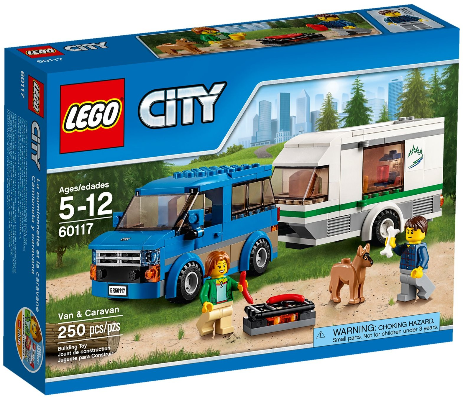 lego city 60117 pas cher la camionnette et sa caravane. Black Bedroom Furniture Sets. Home Design Ideas