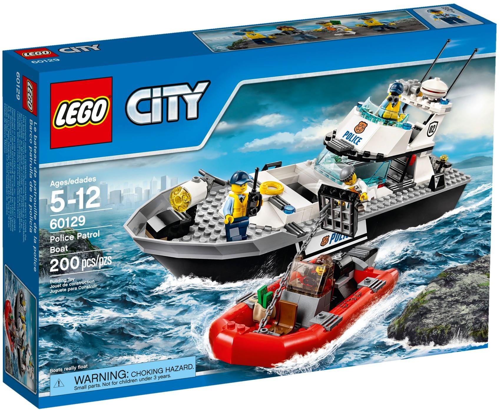 Lego city 60129 pas cher le bateau de patrouille de la for Store bateau pas cher