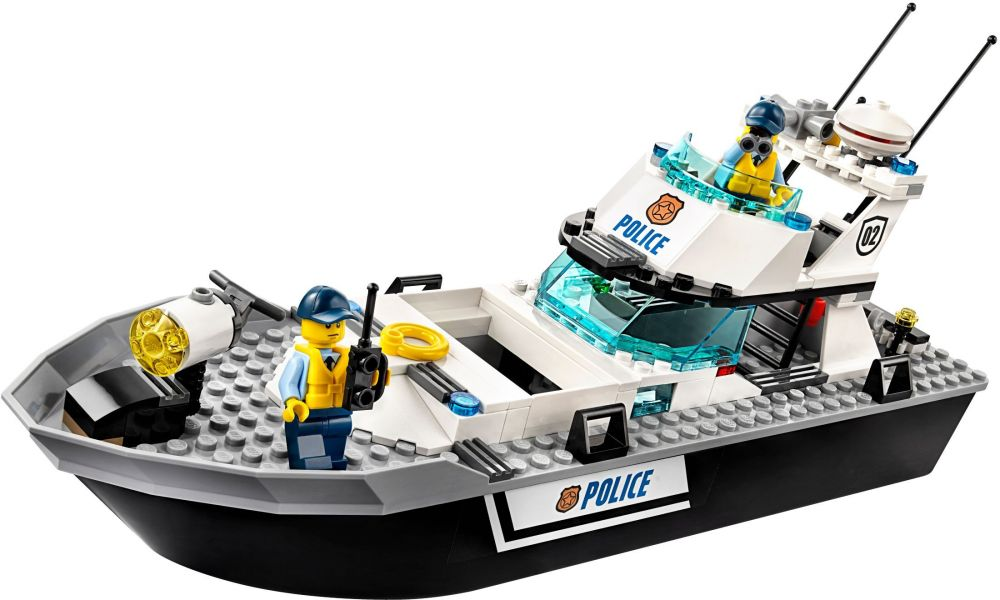 lego city 60129 pas cher le bateau de patrouille de la police. Black Bedroom Furniture Sets. Home Design Ideas