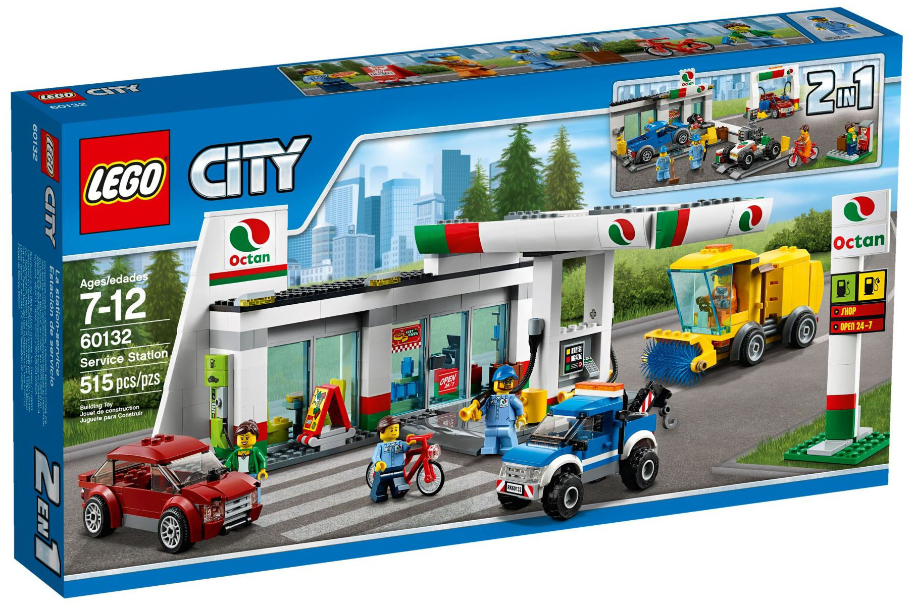 lego city 60132 pas cher la station service. Black Bedroom Furniture Sets. Home Design Ideas