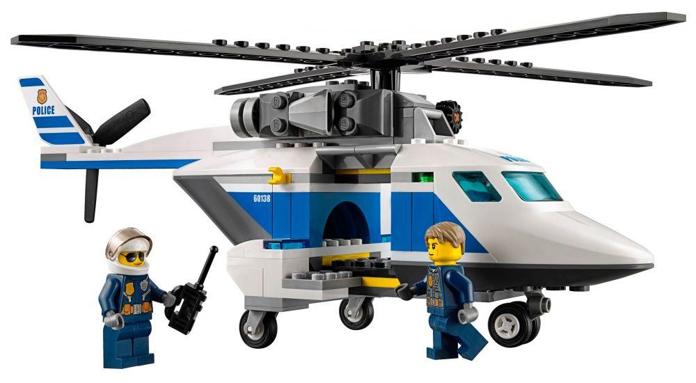 Lego City 60138 Pas Cher La Course Poursuite En Hélicoptère