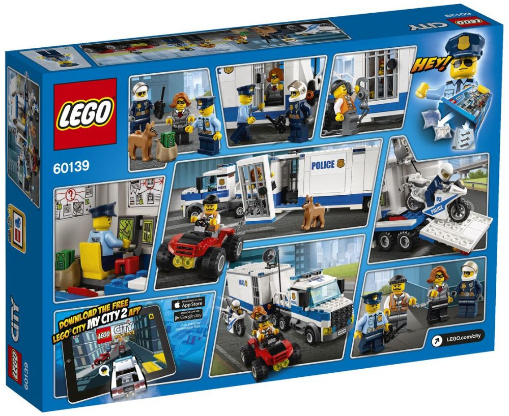lego city 60139 pas cher le poste de commandement mobile. Black Bedroom Furniture Sets. Home Design Ideas