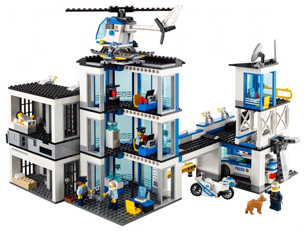 lego city 60141 pas cher le commissariat de police. Black Bedroom Furniture Sets. Home Design Ideas