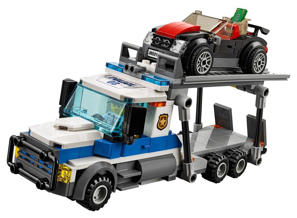 Lego city 60143 pas cher le braquage du transporteur de - Lego city camion police ...