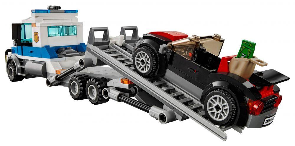 Lego city 60143 pas cher le braquage du transporteur de - Camion de police lego city ...