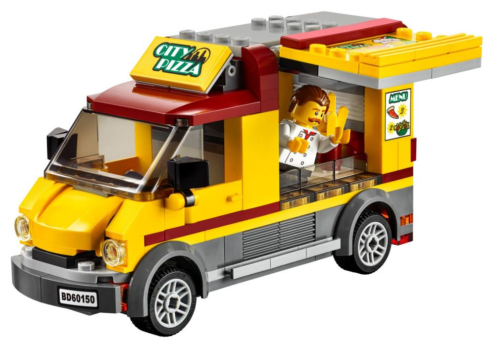 Lego city 60150 pas cher le camion pizza - Camion lego city police ...