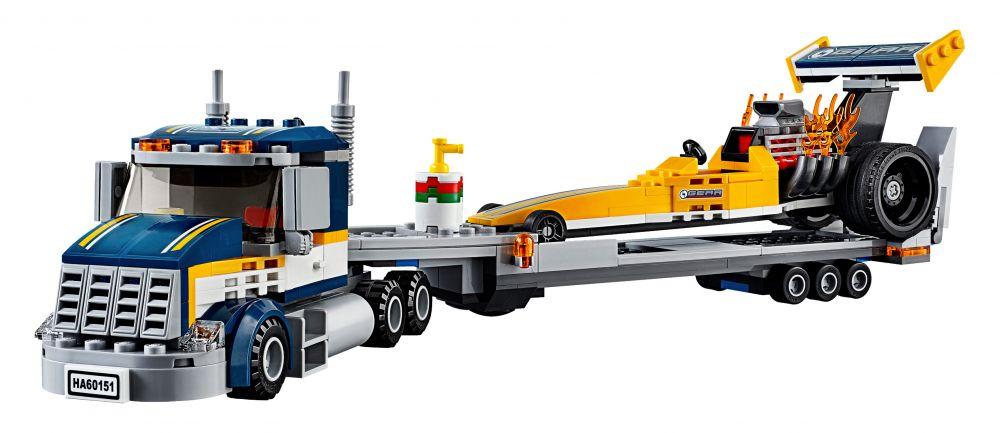 lego city 60151 pas cher le transporteur du dragster. Black Bedroom Furniture Sets. Home Design Ideas