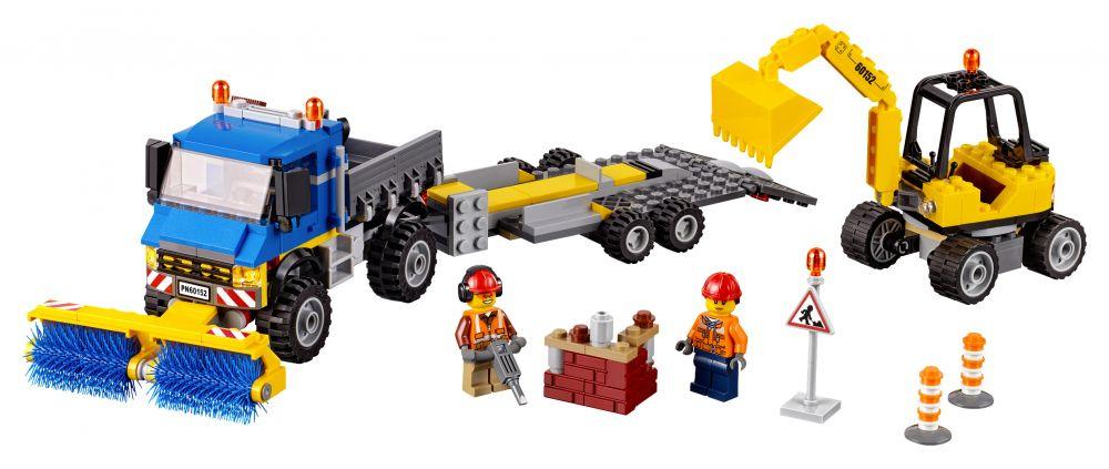 lego city 60152 pas cher le d blayage du chantier. Black Bedroom Furniture Sets. Home Design Ideas