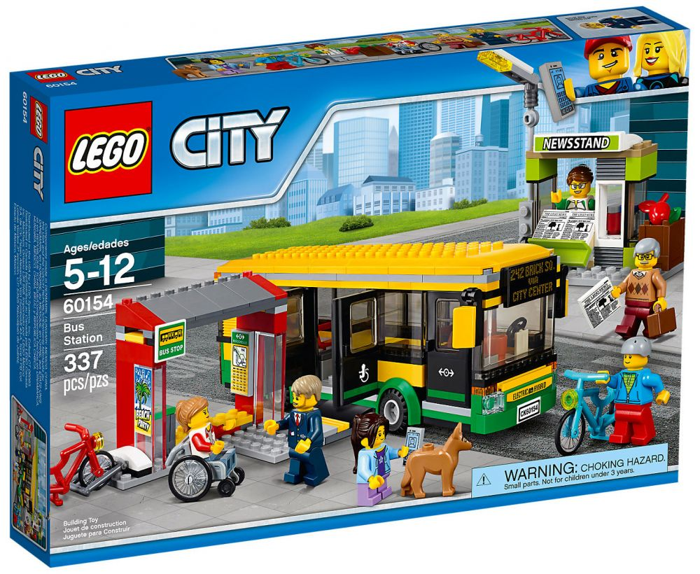 lego city 60154 pas cher la gare routi re. Black Bedroom Furniture Sets. Home Design Ideas
