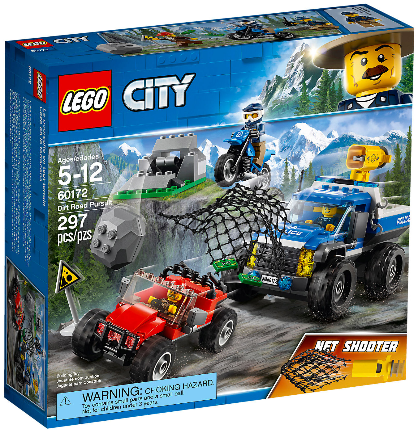 lego city 60172 pas cher la course poursuite en montagne. Black Bedroom Furniture Sets. Home Design Ideas