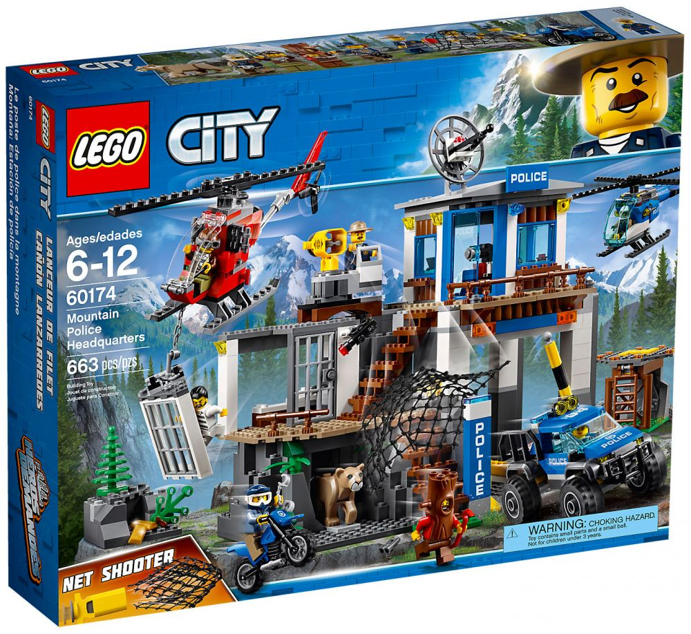 lego city 60174 pas cher le poste de police de montagne. Black Bedroom Furniture Sets. Home Design Ideas