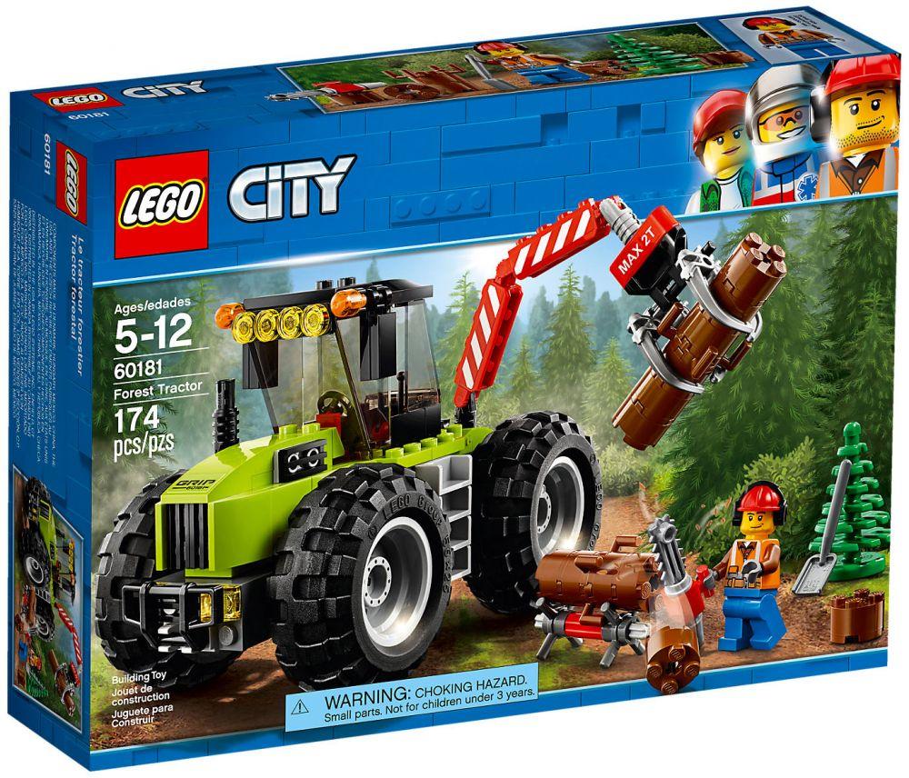 lego city 60181 pas cher le tracteur forestier. Black Bedroom Furniture Sets. Home Design Ideas