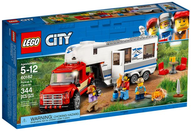 lego city 60182 pas cher le pick up et sa caravane. Black Bedroom Furniture Sets. Home Design Ideas