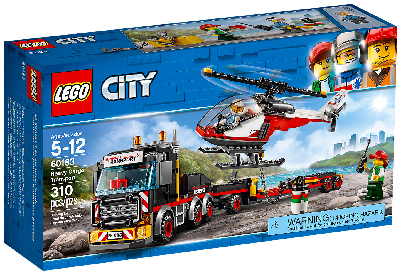 Lego city 60183 pas cher le transporteur d 39 h licopt re - Lego camion police ...