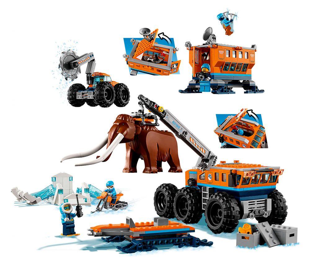 Pas Lego City CherLa Base 60195 Arctique D'exploration Mobile KJu1lFTc35