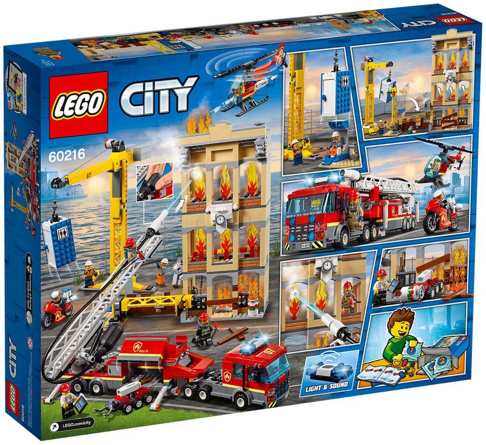 lego city 60216 pas cher les pompiers du centre ville. Black Bedroom Furniture Sets. Home Design Ideas