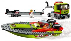 LEGO City 60254 Le transport du bateau de course