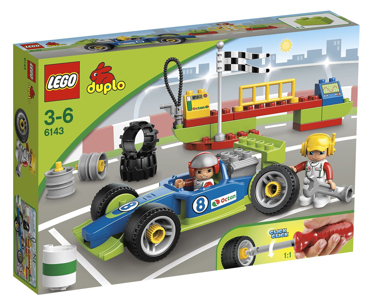 lego duplo 6143 pas cher le stand de course. Black Bedroom Furniture Sets. Home Design Ideas