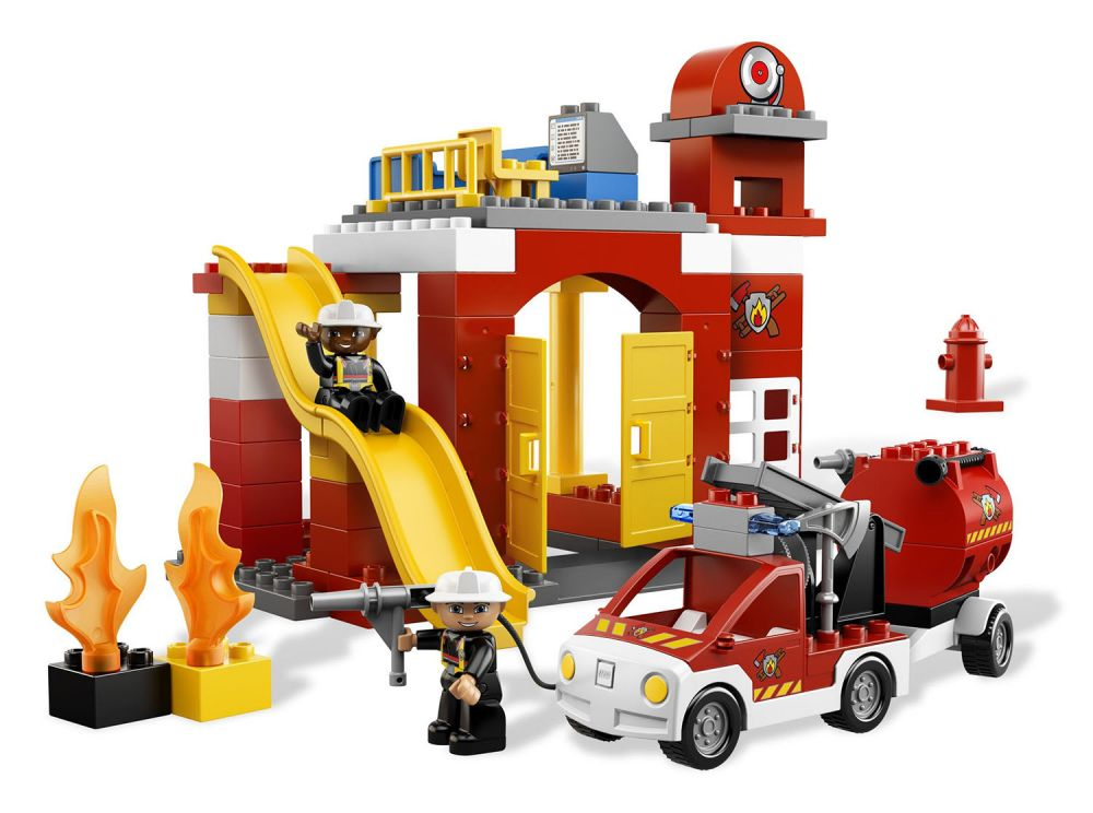 lego duplo 6168 pas cher la caserne des pompiers. Black Bedroom Furniture Sets. Home Design Ideas