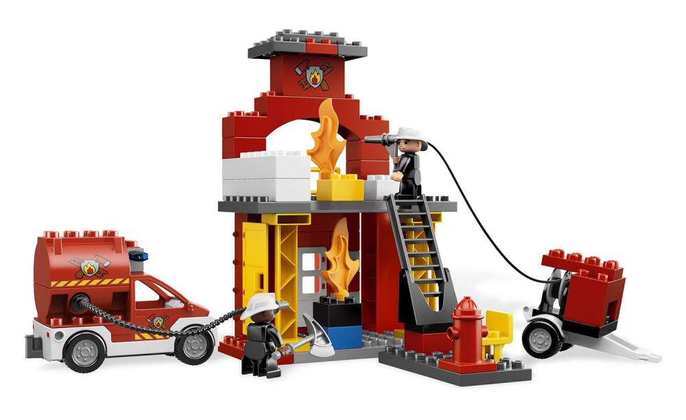 lego duplo 6168 pas cher la caserne des pompiers. Black Bedroom Furniture Sets. Home Design Ideas