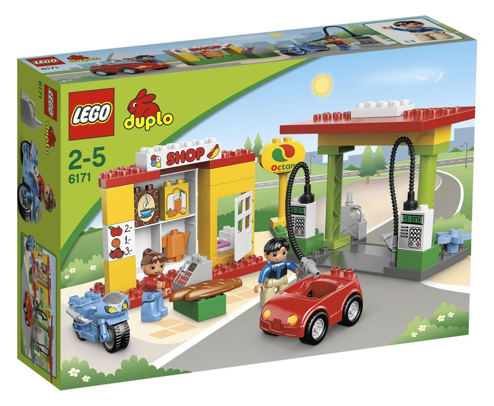 lego duplo 6171 pas cher la station service. Black Bedroom Furniture Sets. Home Design Ideas