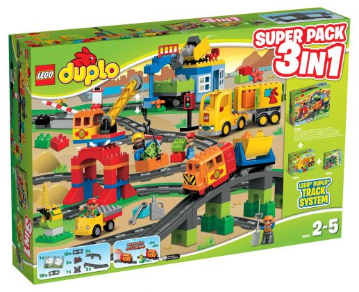 LEGO Duplo 66524 Super Pack 3-in-1: Mon train de luxe