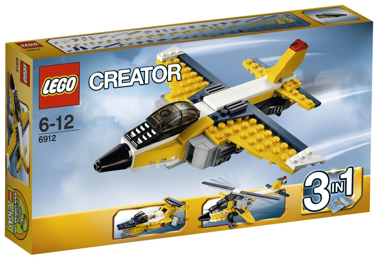 lego creator 6912 pas cher l 39 avion r action. Black Bedroom Furniture Sets. Home Design Ideas