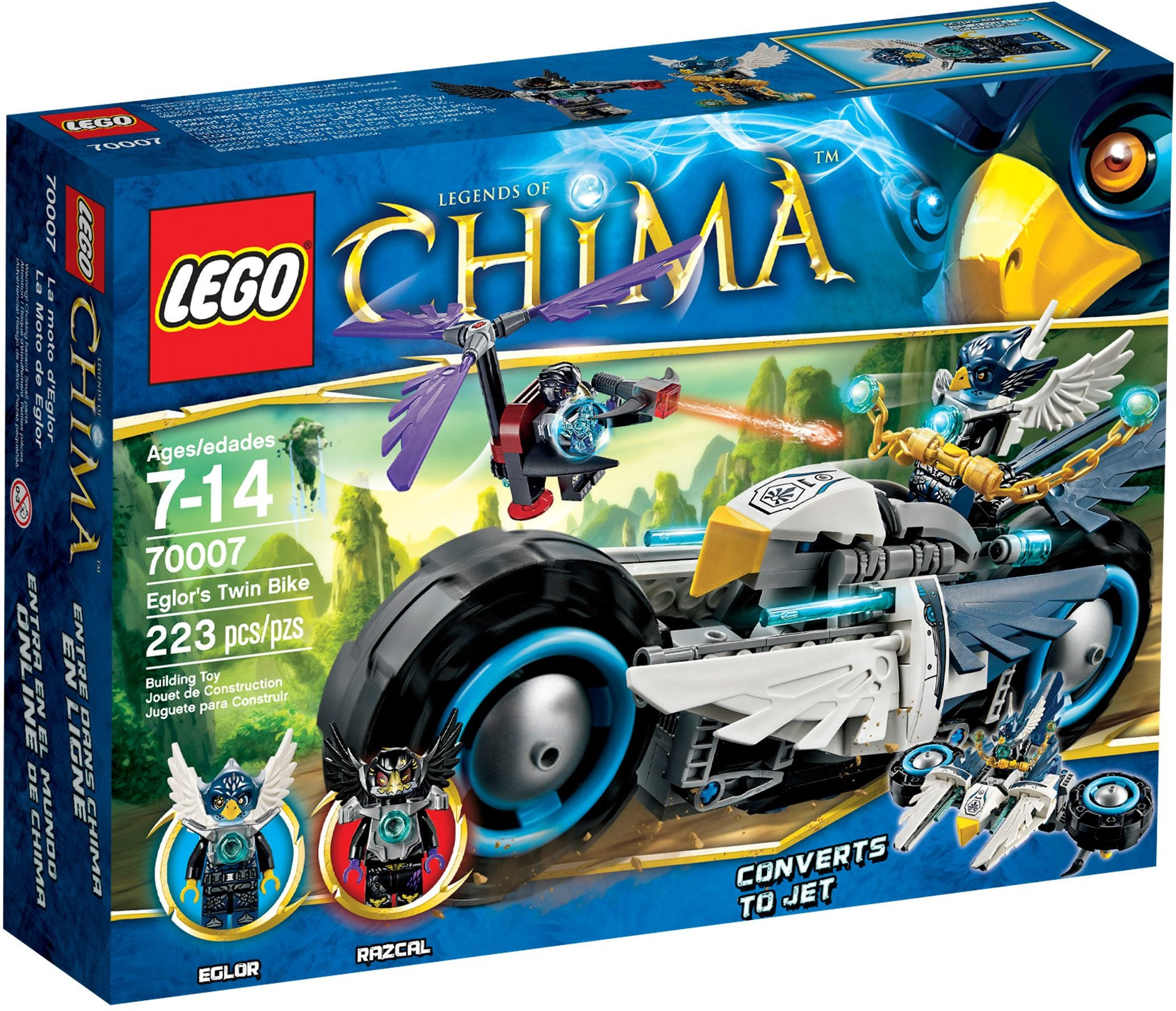 lego chima 70007 pas cher le roadster d 39 eglor. Black Bedroom Furniture Sets. Home Design Ideas
