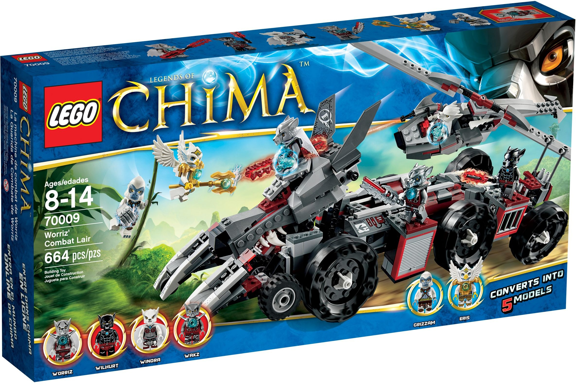 Lego Chima 70009 Pas Cher Le Char De Combat Loup
