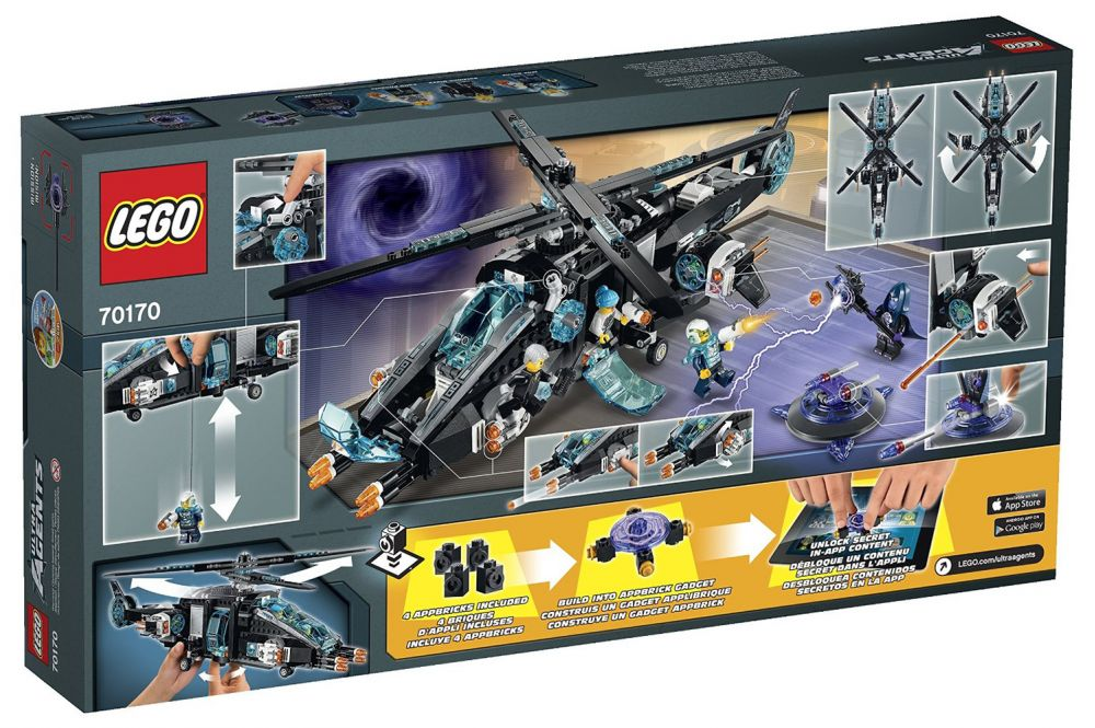 lego ultra agents 70170 pas cher ultracopter contre antimatter. Black Bedroom Furniture Sets. Home Design Ideas