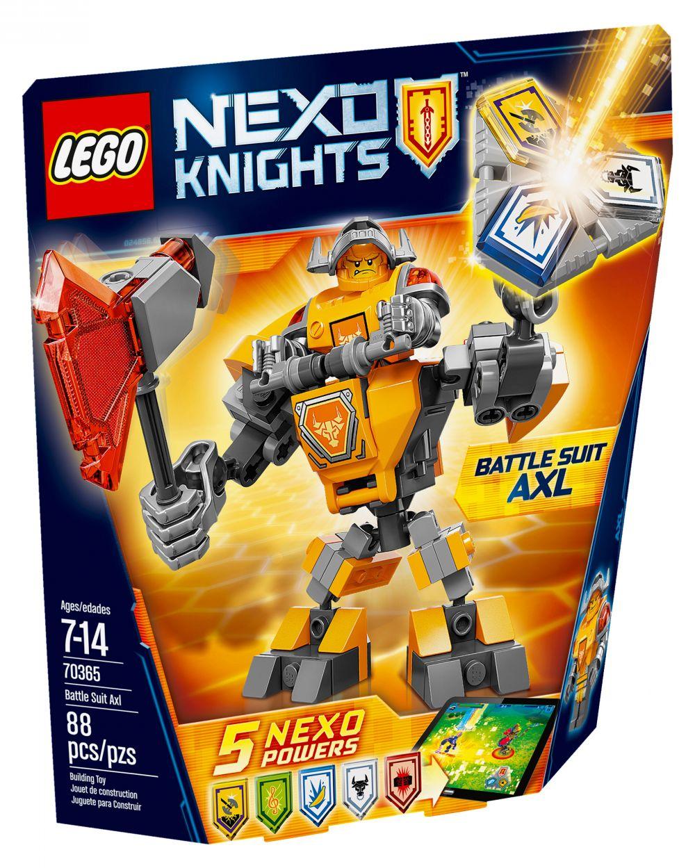 LEGO Nexo Knights 70365 pas cher, La super armure d'Axl