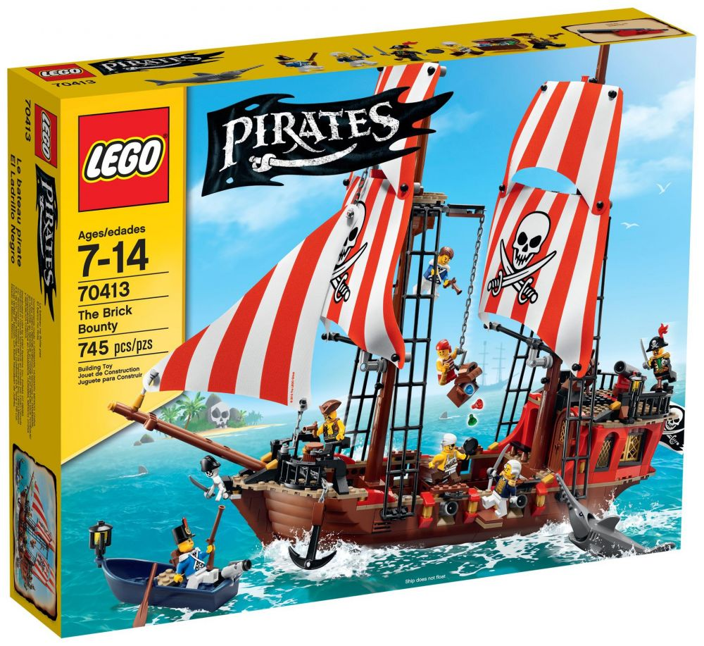 lego pirates 70413 pas cher le bateau pirate. Black Bedroom Furniture Sets. Home Design Ideas