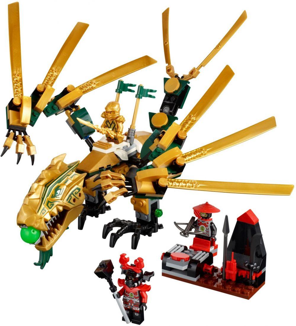 Lego ninjago 70503 pas cher le dragon d 39 or - Lego ninjago d or ...