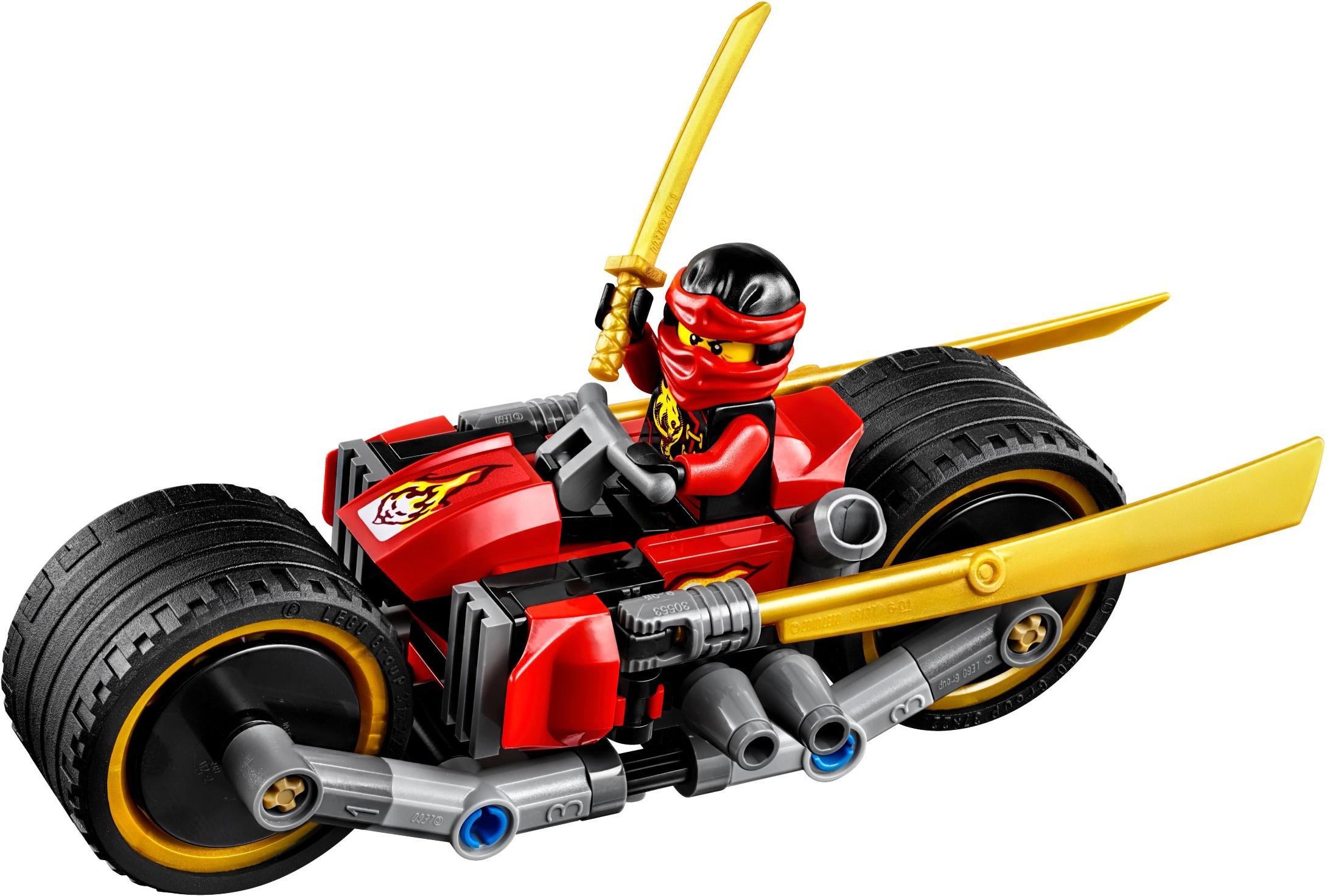 Lego ninjago 70600 pas cher la poursuite en moto des ninja - Lego ninjago voiture ...