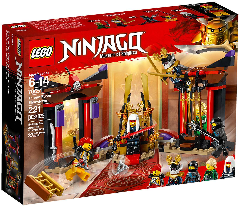 Lego ninjago 70651 pas cher la confrontation dans la salle du tr ne - Photo lego ninjago ...
