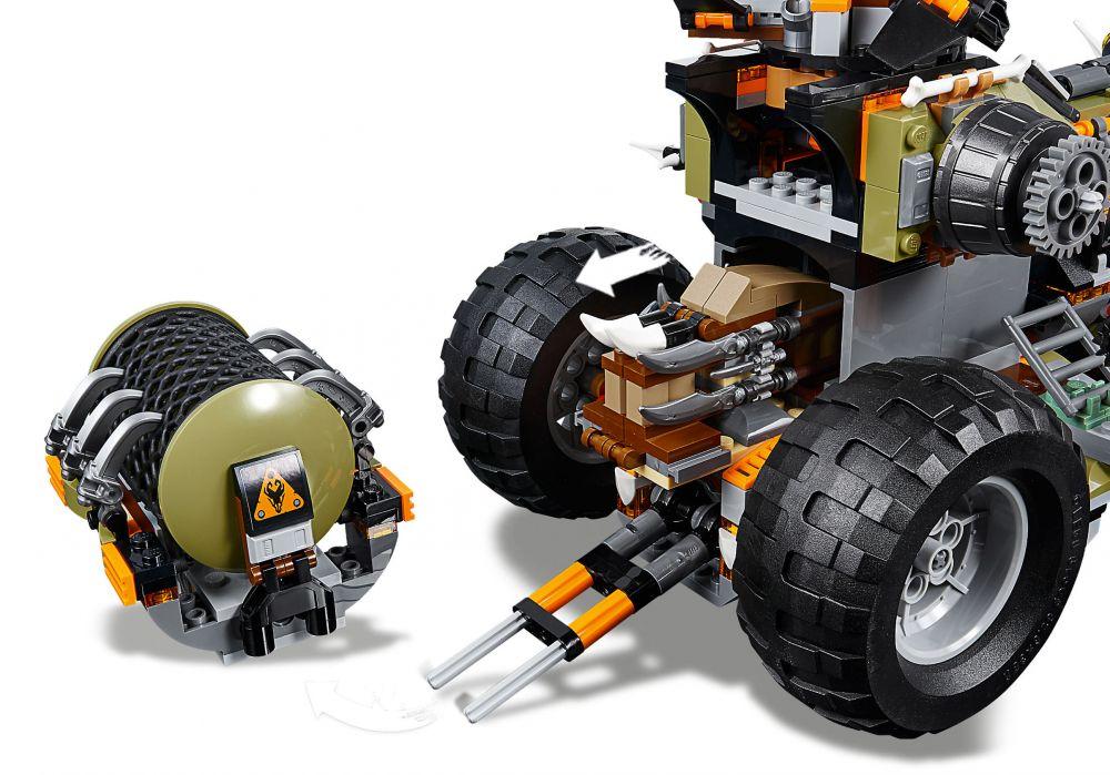 Lego ninjago 70654 pas cher le v hicule de combat dieselnaut - Ninjago les 4 armes d or ...