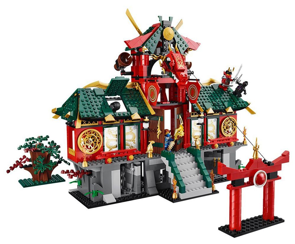 lego ninjago 70728 pas cher le temple de ninjago city. Black Bedroom Furniture Sets. Home Design Ideas