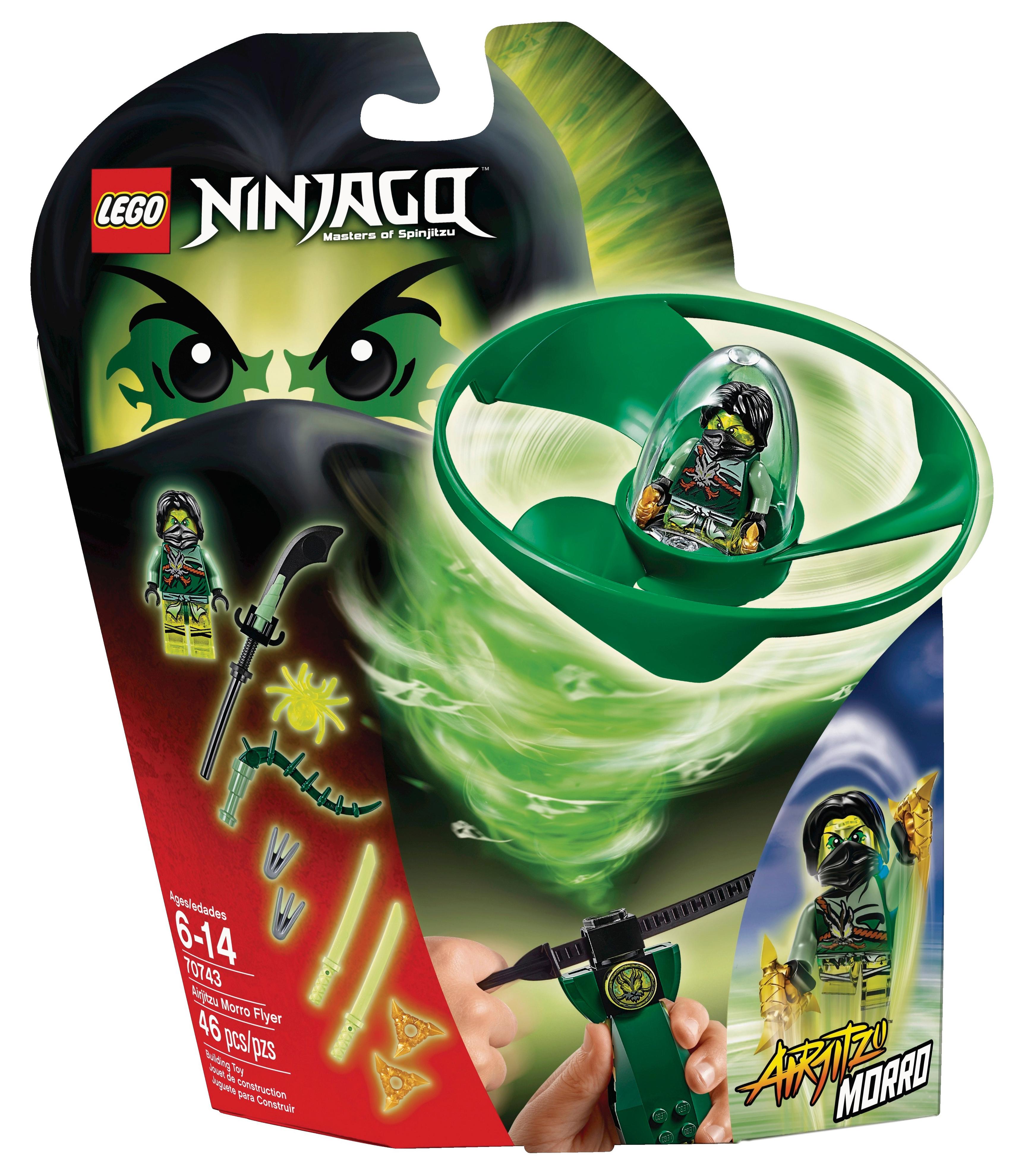 Lego ninjago 70743 pas cher airjitzu de moro - Ninjago les 4 armes d or ...