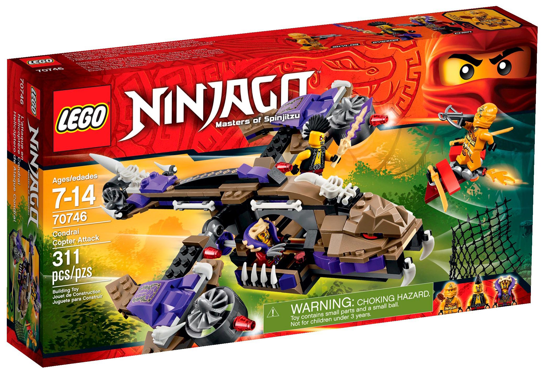 Lego ninjago 70746 pas cher l 39 h licopt re de condrai - Lego ninjago 4 ...