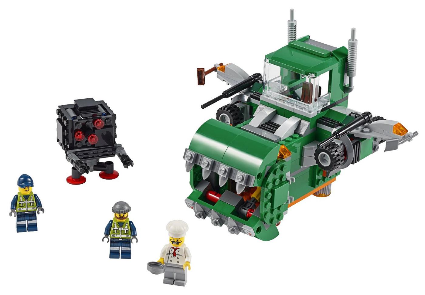 Lego movie 70805 pas cher le camion poubelle for Poubelle broyeur