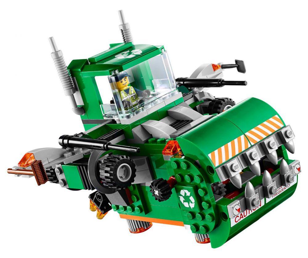 70805 le camion poubelle de lego for Poubelle broyeur